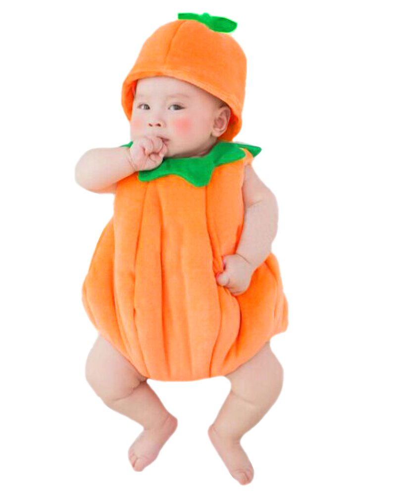 UOMNY Newborn Baby Photography Props Handmade Pumpkin Crochet Knitted Unisex Baby Cap Outfit Photo Props