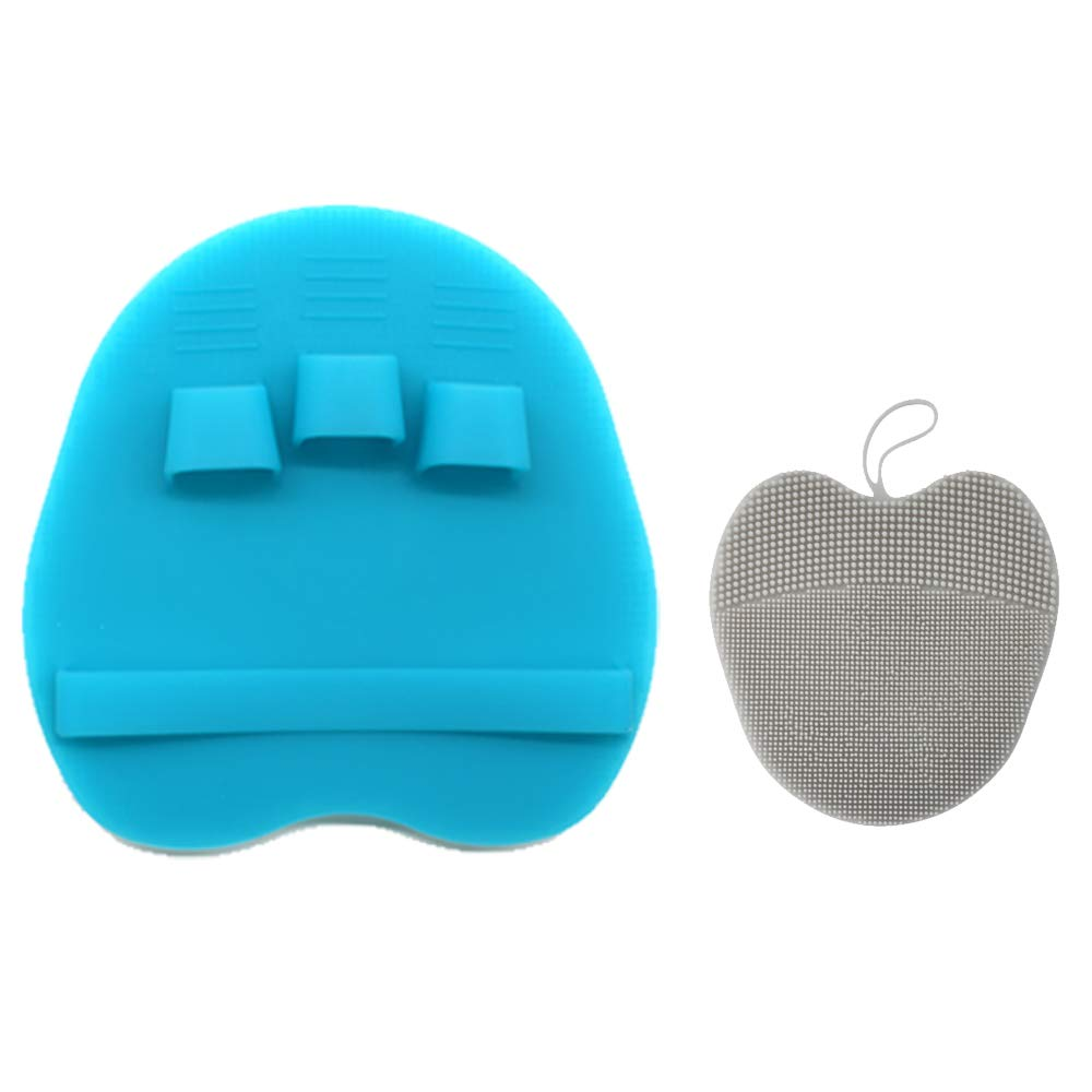 Pure Silicone Body Massage Brush Body Wash Bath Shower Tool, with Super Soft Manual Facial Cleansing Brush Scrubber