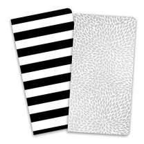Paper House Productions JBB0010 Stripes and Sparkle JourneyBook Insert Set for Standard Size Traveler's Notebook Dot Grid