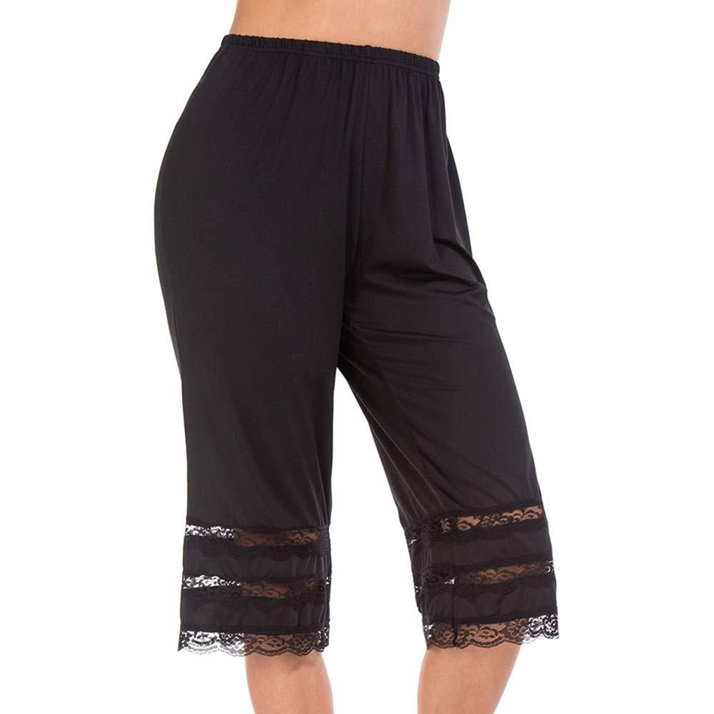 "MANCYFIT Pettipant Half Slip for Women Bloomers 12-18"" Inseam Wide Leg Lace Pajama Pants"