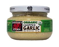 Emperor's Kitchen  Organic Chopped Garlic, 4.5 Ounce (Pack of 12)