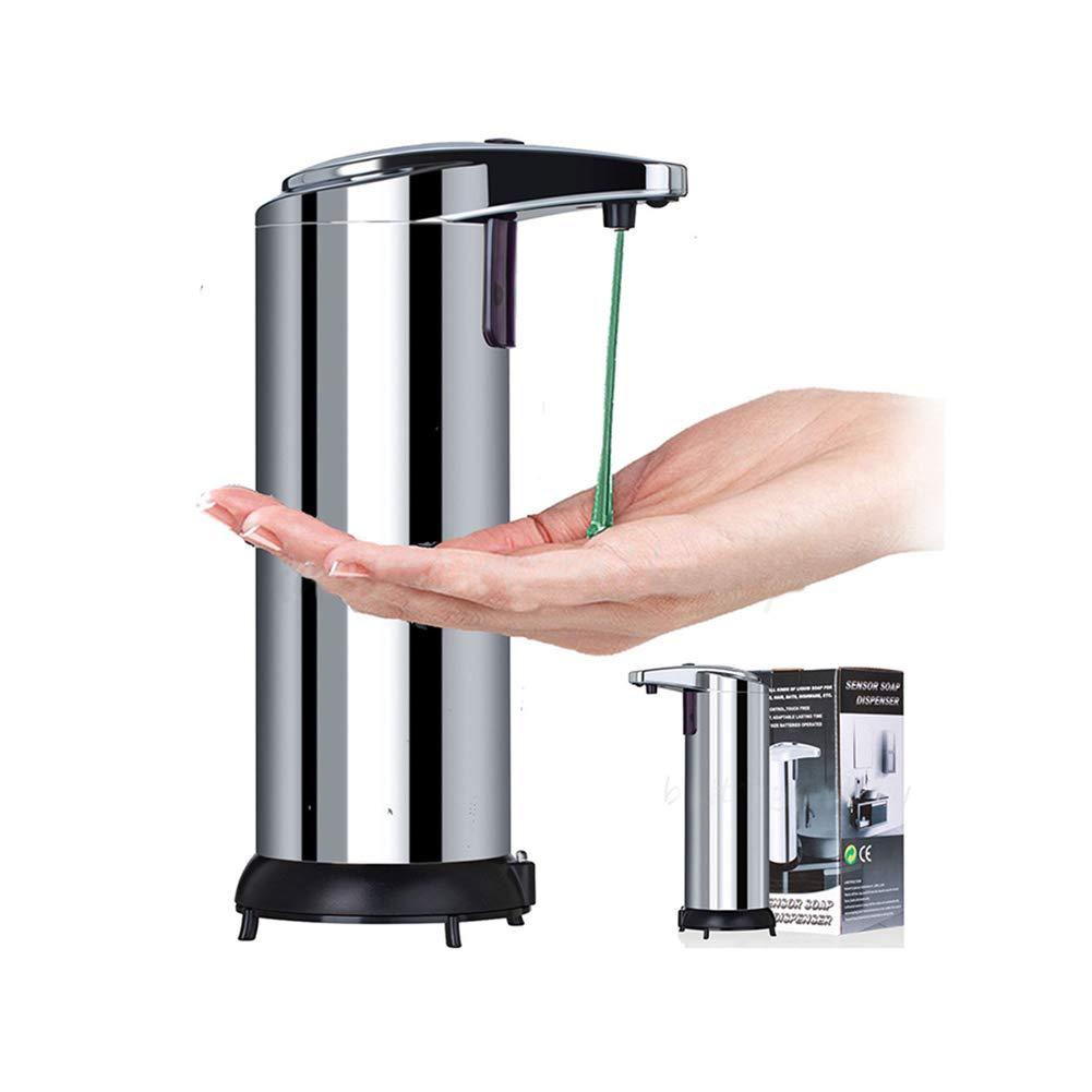 LN LOVE NEST Automatic Soap Dispenser Hand Sanitizer Dispenser Stainless Steel Countertop Hand Soap Dispenser Touchless Soap Dispenser Auto Dish Soap Dispenser Kitchen Sink