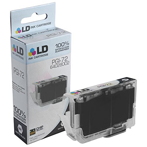 LD Compatible Ink Cartridge Replacement for Canon PGI-72 6402B002 (Matte Black)