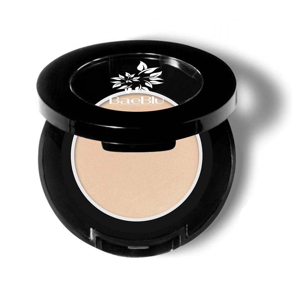 BaeBlu Hypoallergenic Eyeshadow Organic 100% Natural Finely Pressed Velvety Smooth Powder, Made in USA, Cashmere