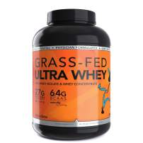 Dioxyme Grass Fed Ultra Whey Protein Powder - Whey Isolate and Concentrate Protein Blend – 27gm Protein/Serv - Sustained Muscle Repair - 5lb - (Cinnamon Bun)