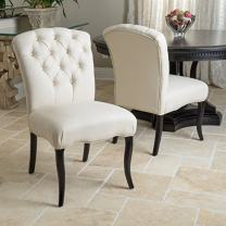 Christopher Knight Home Hallie Dining Chair (Set Of 2), Linen