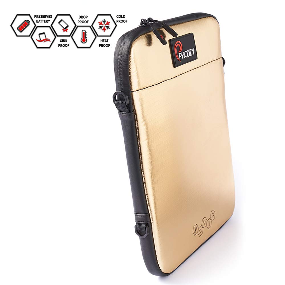 """PHOOZY iPad Thermal Case - Prevents Overheating, Extends Battery Life in The Cold, Drop & Water Protection, Fits iPad 9.7, iPad Air, iPad 10.5, iPad Pro 11 and Other Tablets up to 11"""" [Iridium Gold]"""