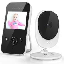 """Clearance Sale Video Baby Monitor, 2.4"""" LCD Digital Camera with Auto Infrared Night Vision, Power Saving, 2-Way Talk Back, Temperature Sensor, Night Light, LCD Display, Lullabies"""