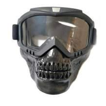 Hsanzeo Motorcycle Ski Skull Goggles Sunglasses ATV Anti Wind UV Transparent