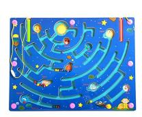 Elloapic Pen Driving Maze Puzzle Interactive Maze Leading Beads Maze on Board Game Eduactional Handcraft Toys-Square - 9 Planets Maze