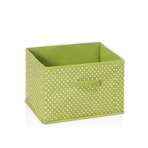 FURINNO Laci Dot Design Non-Woven Fabric Soft Storage Organizer, Small, Green