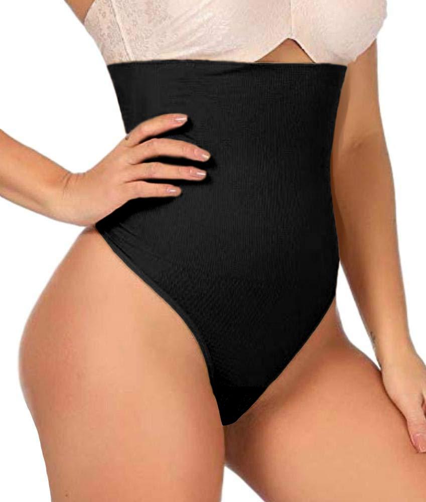 ShaperQueen 102 Thong Shaper - Womens Waist Cincher Trainer High-Waisted Girdle Faja Body Tummy Control Panty Shapewear