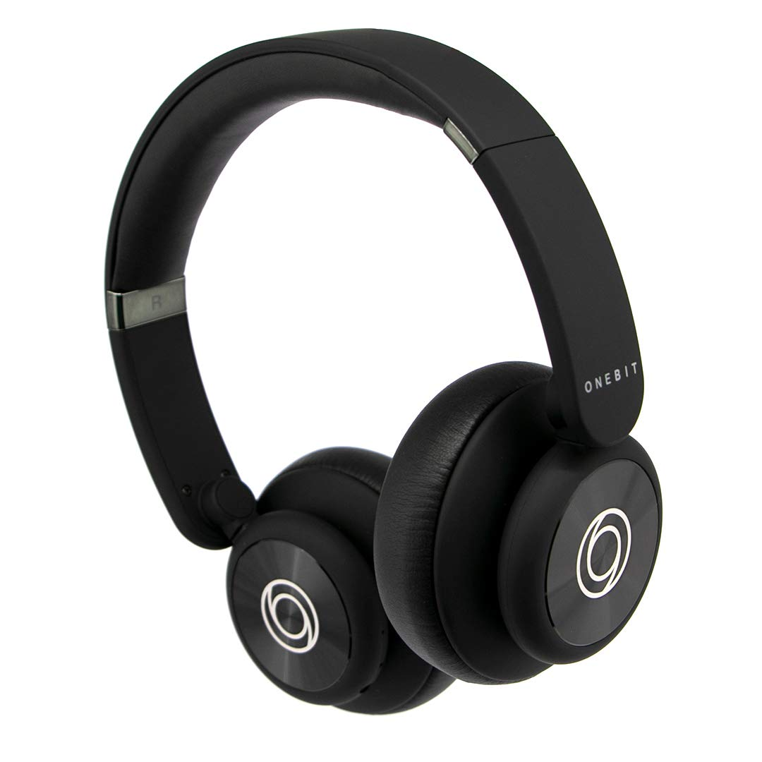 Onebit, Rockbit Style, Wireless Headphones, 9 Hours of uninterrupted Music, Auxiliary Backup Cable, Built-in Microphone, Bluetooth 4.2, Rechargeable 300 mAh Battery