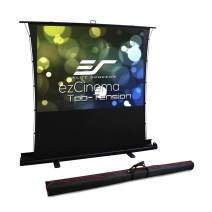 Elite Screens ezCinema Tab Tension, Portable Manual Floor Pull Up with Scissor Backed Projector Screen,90-inch 16:9, 4:3,1:1 Home Theater Office Classroom Projection Screen with Carrying Bag, FT90XWV