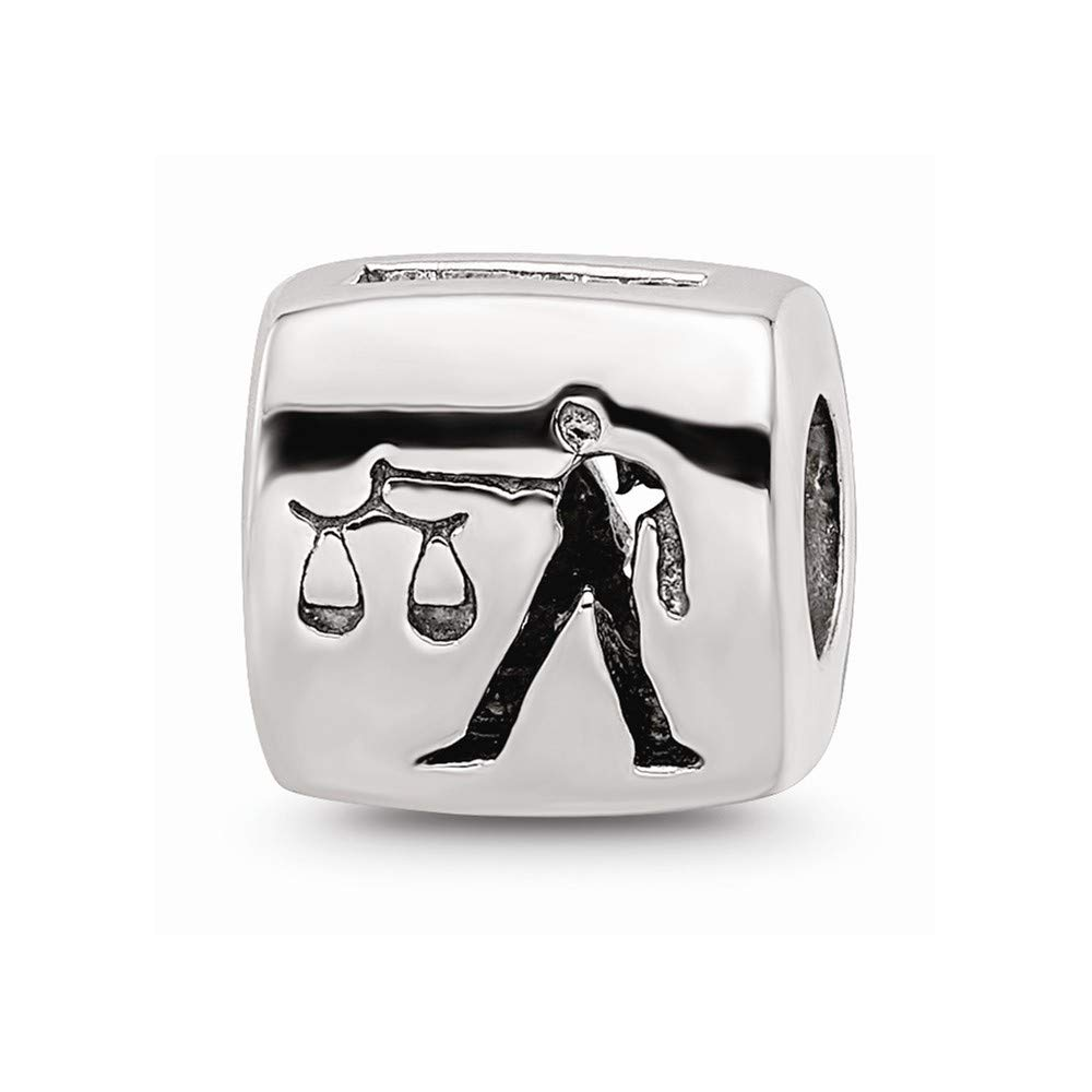 925 Sterling Silver Charm For Bracelet Libra Zodiac Bead Fine Jewelry For Women Gifts For Her