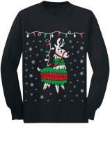 Tstars - Llama Pinata Ugly Christmas Sweater Toddler/Kids Long Sleeve T-Shirt