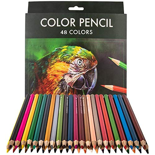 Colored Pencils Set 48 Count -Colored Pencils for Adults -Color Pencils for Artists -Professional Coloring Pencils for Adult Coloring Book