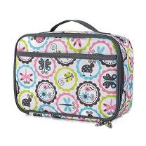 Insulated Durable Lunch Box Sleeve With Handle and Side Bag Reusable Lunch Bag For Student Girl And Boy(colour insect)