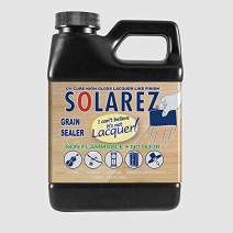 SOLAREZ I Can't Believe It's Not Lacquer ~ Grain Sealer (Pint) ~ No Odor, No Waiting - Cures 3-5 Minutes!, Eco-Friendly Zero VOC's, Perfect Sanding & No Dangerous Fumes!