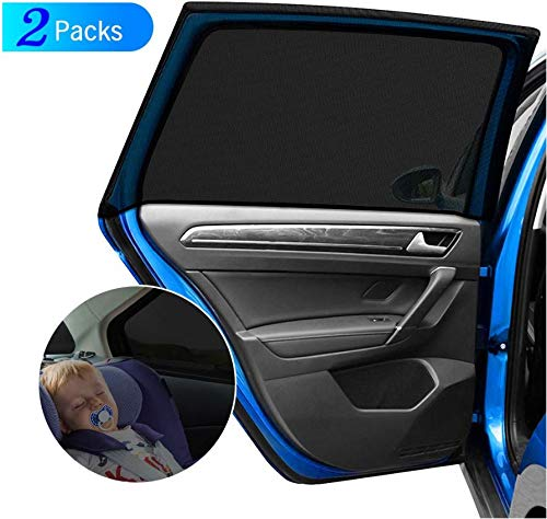 STARDOM Car Side Window Sun Shade Large Baby Premium Breathable Mesh Sun Shield Protect Rectangular Window Away from UV | Easy Fit for Most of Cars (Size A)