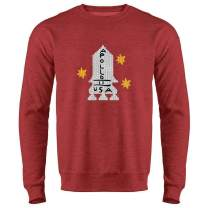 Apollo 11 Retro Knit Sweater Style Costume Crewneck Sweatshirt for Men