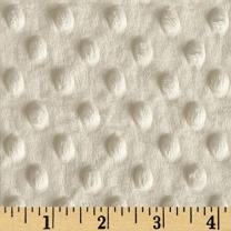 Shannon Fabrics Minky Cuddle Dimple, Ivory