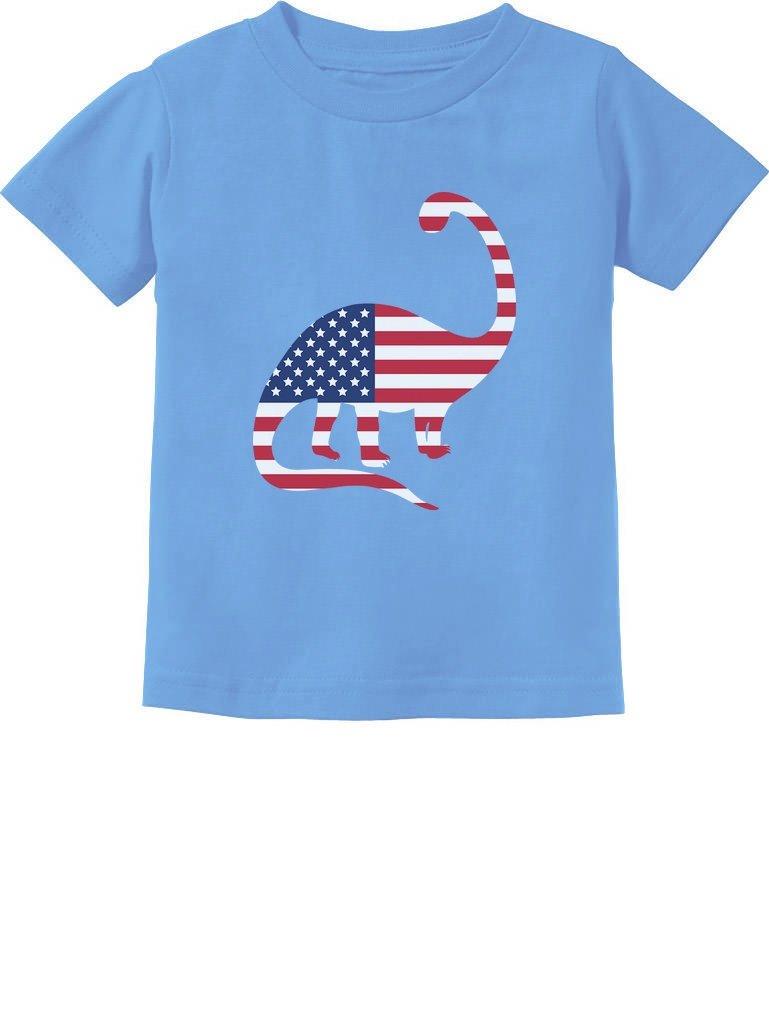 USA Dinosaur American Flag 4th of July Gift Toddler Infant Kids T-Shirt