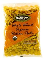 Mantova Italian Organic Whole Wheat Pasta Shells - 100% Durum Semolina Organic Shells- 16 Oz Pack Of 12) - Product Of Italy