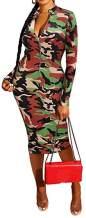 Xuan2Xuan3 Women's Dresses Fall Long Sleeve Snake Printed Zipper Neck Knit Bodycon Evening Party Long Dress
