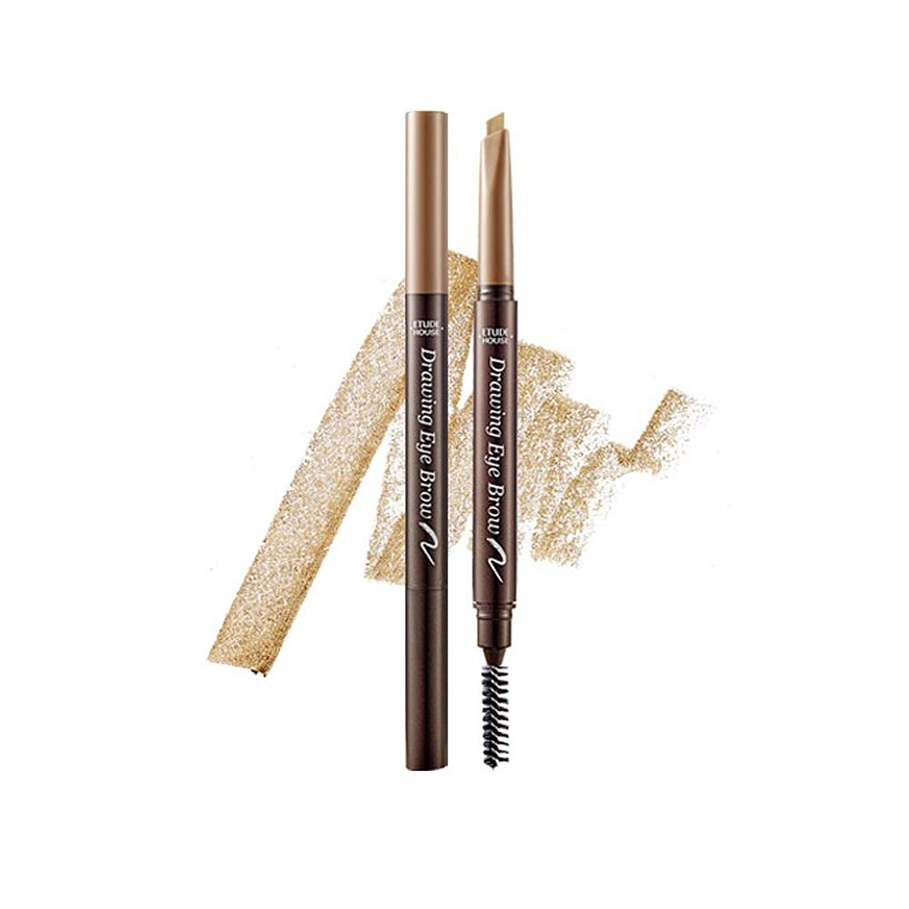 ETUDE HOUSE Drawing Eye Brow #7 Light Brown | Long Lasting Eyebrow Pencil for Soft Textured Natural Daily Look Eyebrow Makeup