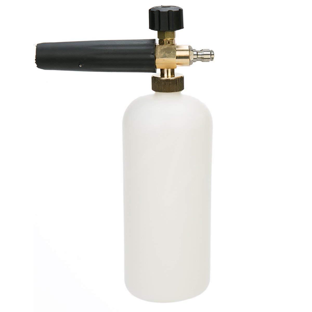 "8MILELAKE Foam Cannon 1/4"" Quick Release Adjustable Pressure Washer Jet Snow Foam Lance"