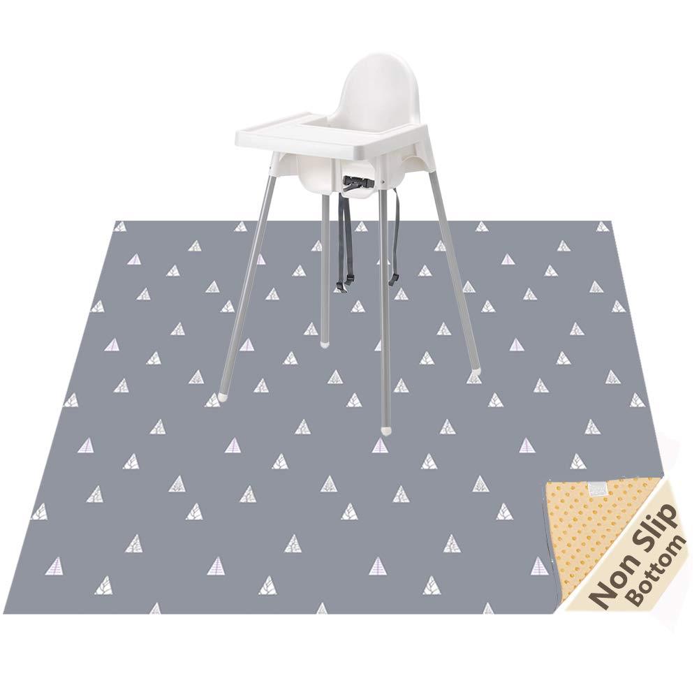 Highchair Floor Mat, Baby Splat Mat for Under High Chair/Arts/Crafts, Womumon Waterproof Spill Mat Non-Slip Splash Mat, Washable Mess Mat and Table Cloth