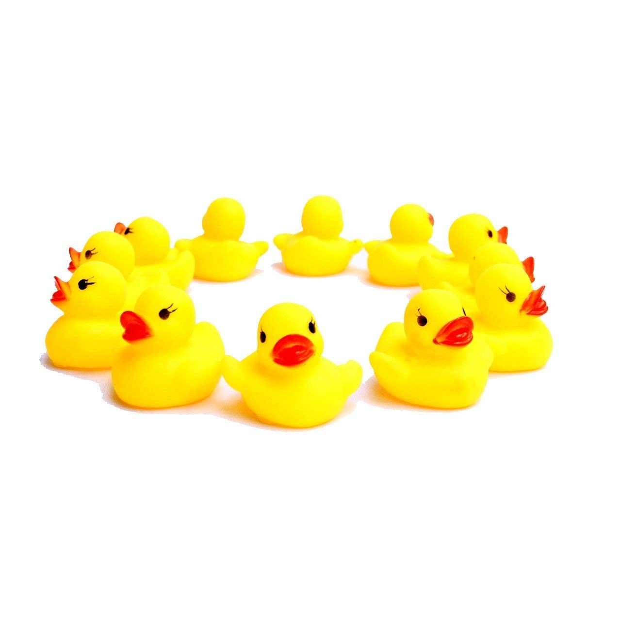 Rubber Ducks - 24 Pack Baby Bath - Mini Floating Bath Toy Duckies - Let Your Child Experience The Fun And Enjoyment Of Bath-Time - Early Developmental Learning - Prize - Christmas, Holiday Gift...