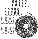 Hanging Chains 156 Inches for Bird Feeders, Billboards, Chalkboards, Planters and Decorative Ornaments( Black ,10 Hooks )