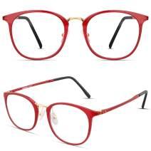 Tamwy Blue Light Blocking Glasses Women Men Computer Game Reading Eyeglasses, Lightweight Thin Frame Anti Eyestrain Eyewear