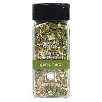 Simply Organic Spice Right Everyday Seasoning Blends, Garlic & Herb, Certified Organic | 2 oz