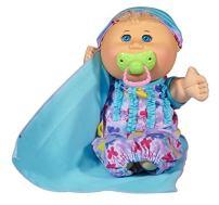 "Cabbage Patch Kids 12.5"" Naptime Babies - Blonde Hair/Blue Eye Girl Baby Doll (Lavender Sleep Sack Fashion)"