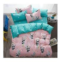 "Bed Set 4pcs Bedding Set Duvet Cover No Comforter Flat Sheet Pillowcases Cartoon Animal China Panda Design Full Size 71""x86"" Kids Adults Teens Sheet Sets (Full, Small Panda)"