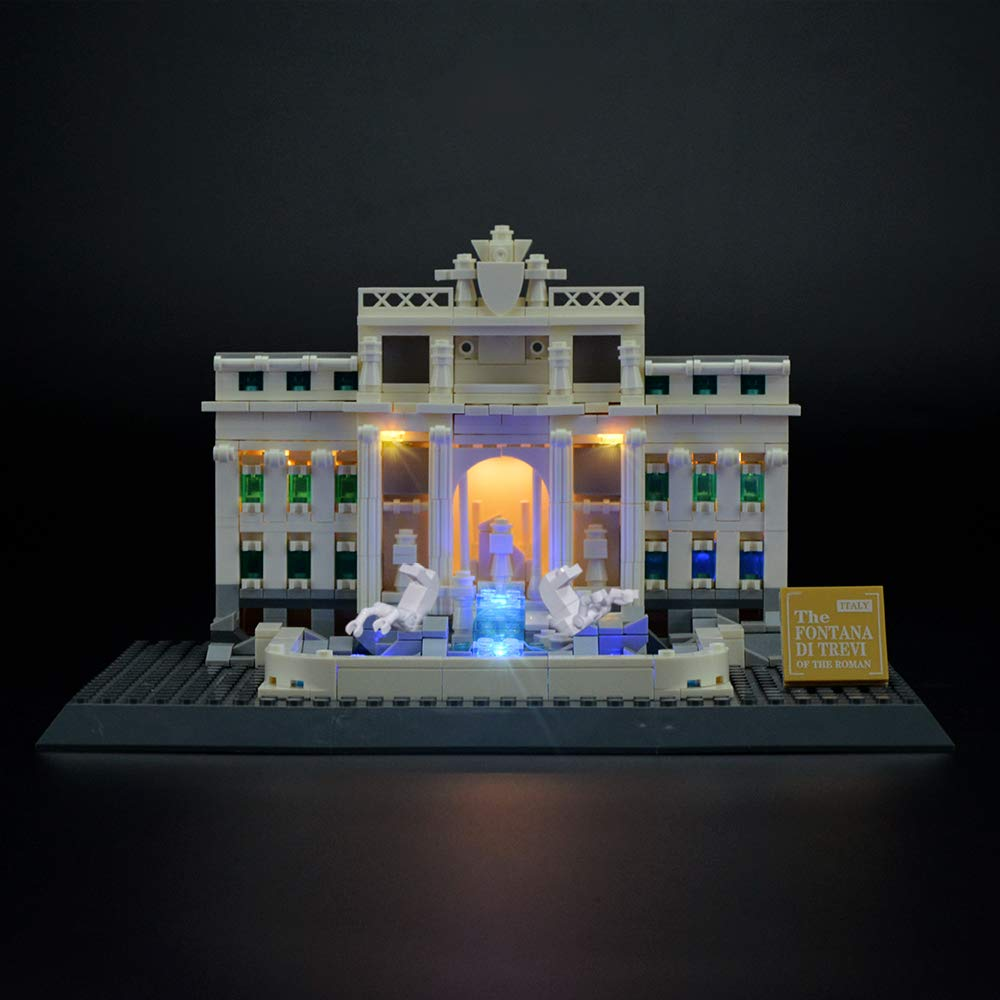 LIGHTAILING Light Set for (Architecture Trevi Fountain) Building Blocks Model - Led Light kit Compatible with Lego 21020(NOT Included The Model)
