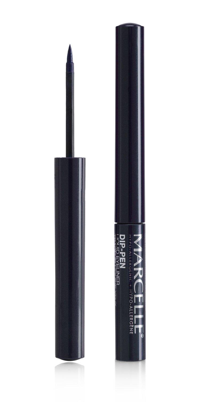 Marcelle Dip-Pen Liquid Eyeliner, Navy, Hypoallergenic and Fragrance-Free, 0.05 fl oz