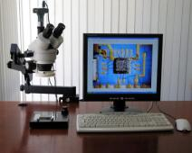 AmScope SM-6TZ-54S-9M Digital Professional Trinocular Stereo Zoom Microscope, WH10x Eyepieces, 3.5X-90X Magnification, 0.7X-4.5X Zoom Objective, 54-Bulb LED Light, Clamping Articulating Arm Stand, 110V-240V, Includes 0.5X and 2.0X Barlow Lenses and 9MP Camera with Reduction Lens and Software