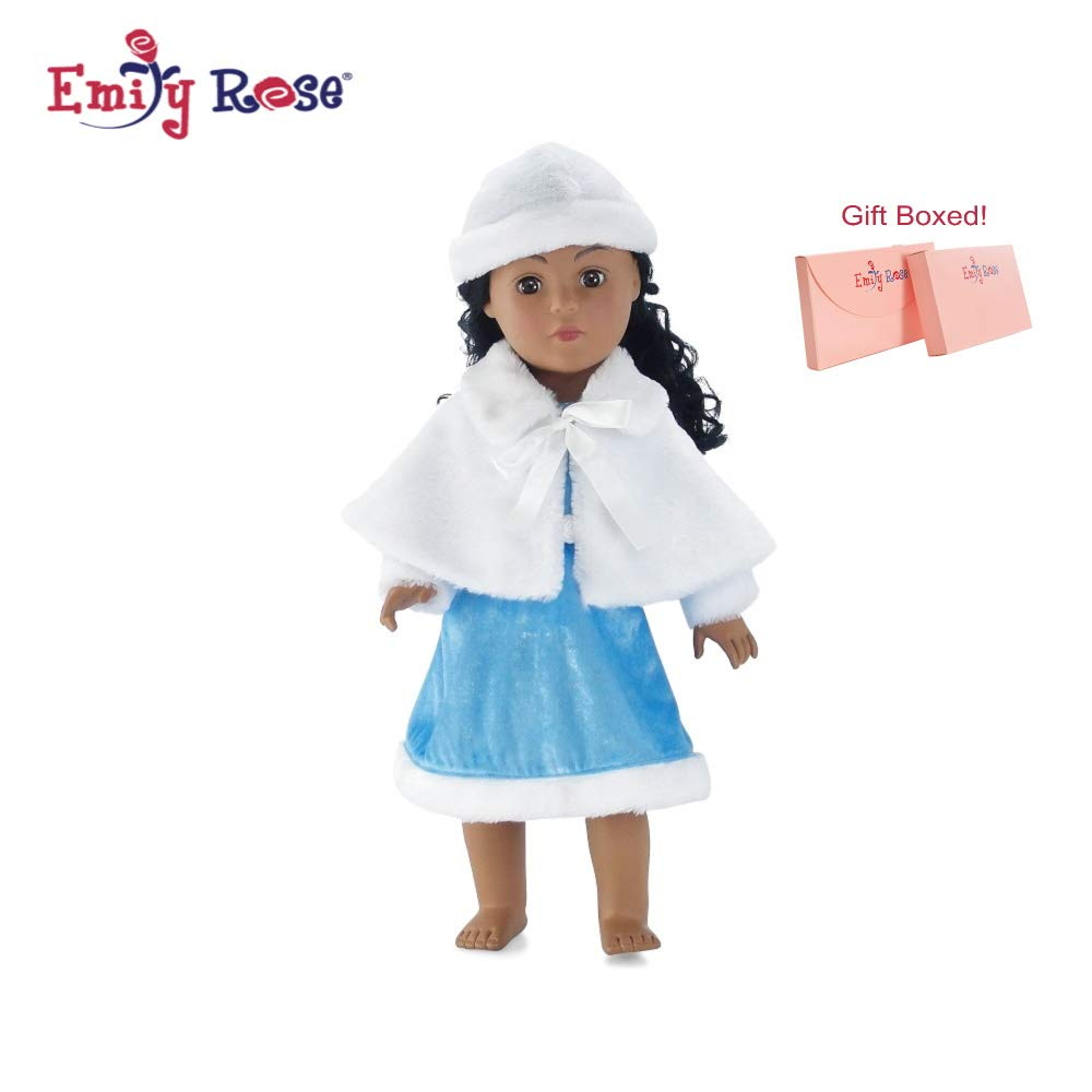 French Princess Doll Dress and Cloak fits 18 Dolls like American Girl or Our Generation
