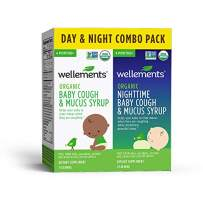 Wellements Cough Syrup (Organic Baby Cough 2 Pack (Day & Night), 2 oz. Day and Night Formula) Free from Dyes, Parabens, Preservatives