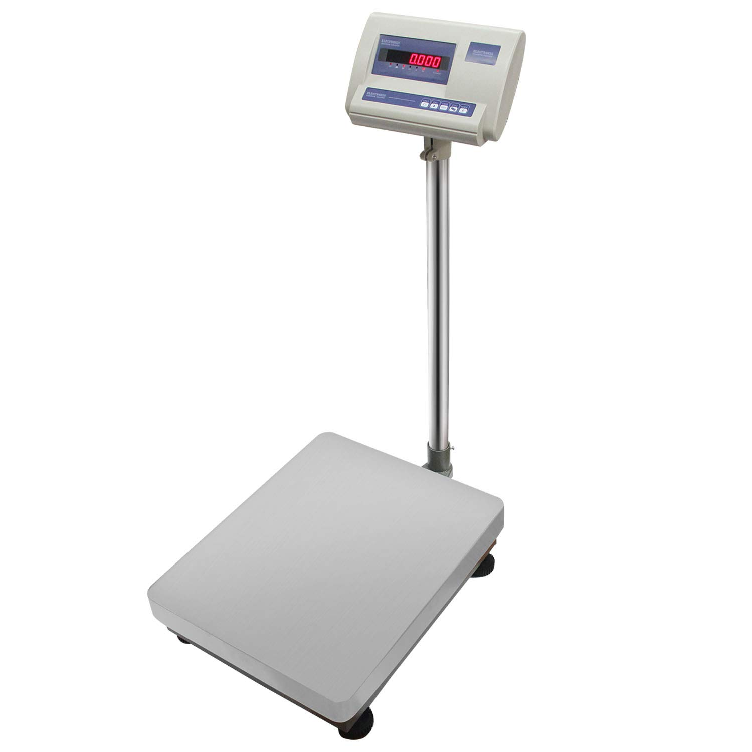 BAOSHISHAN 683LB Floor Platform Scale 310kg/10g Digital Scale Heavy Duty LED Display for Warehouse Shipping Postal with RS232 Interface