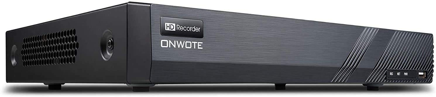 ONWOTE 16 Channel H.265 4K PoE Security NVR Video Audio Recorder, Onvif, Support 8MP 5MP 4MP 1080P, 16CH NVR with NO Hard Drive, Support up to 16TB with 2 Storage Bays, 16-CH Simultaneous Playback