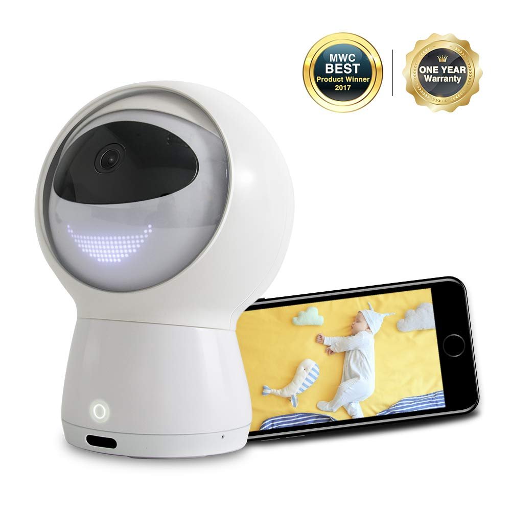 Hugo Video WiFi Baby Monitor, 1080P HD Smart WiFi Baby Camera with 2-Way Audio, Multifunctional AI Robot with Amazon Alexa, Lullaby, Night Vision, Surveillance Security Camera(2019 Upgraded)