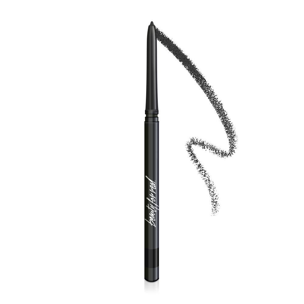 Beauty For Real I-Line 24-7 Waterproof Gel Eyeliner, Black Magic, Black Matte Cruelty Free Blendable Gel Formula for Precision Application, 0.01oz