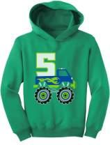 Tstars 5th Birthday Gift for Boys 5 Year Old Boy Truck Birthday Toddler Hoodie