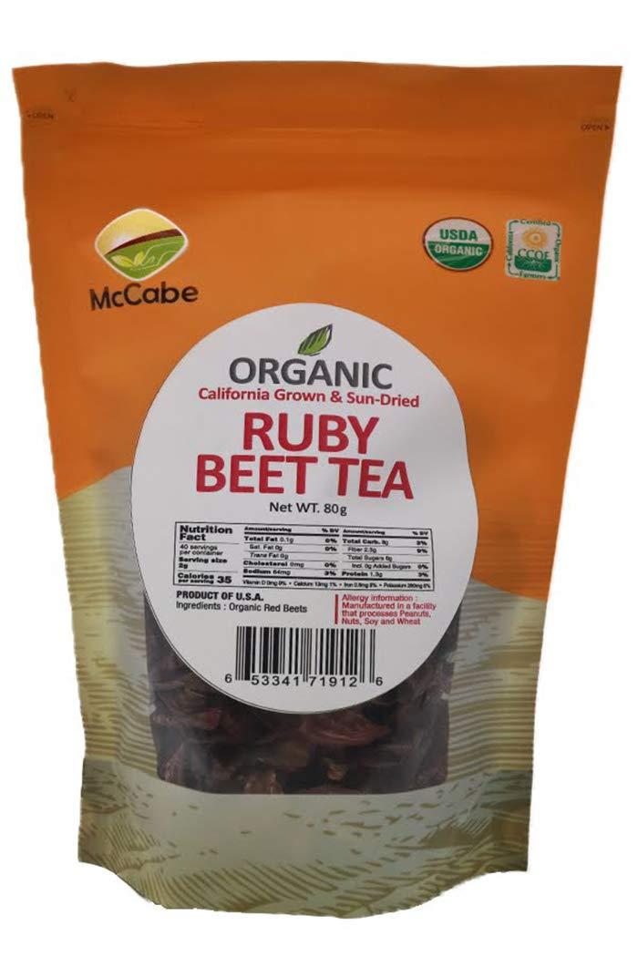 McCabe Organic Sun-Dried Ruby Beet Tea, 80g