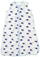 aden + anais Classic Sleeping Bag, 100% Cotton Muslin, Wearable Baby Blanket, Extra Large, 18+ Months, high seas - whales